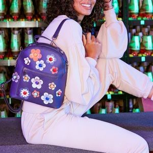 NWT Psychedelic Peonies Backpack